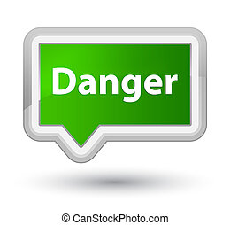 Danger prime green banner button