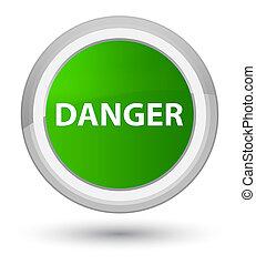 Danger prime green round button