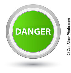 Danger prime soft green round button