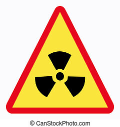 radiation sign - danger radiation sign