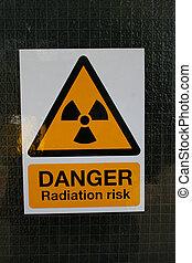 Danger radiation sign