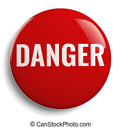 Danger Red Round Icon Symbol
