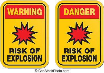 danger risk of explosion signs