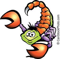Danger Scorpion - Hand-drawn Vector illustration of an...