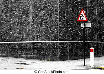 Danger senior crossing