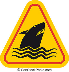 Danger shark - Creative design of danger shark