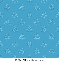 Danger sign pattern vector seamless blue repeat for any use