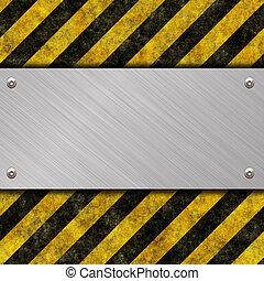 danger sign - metal warning sign