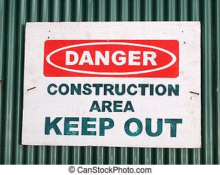 Danger sign, warning background