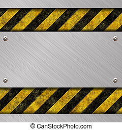 danger sign with stripes
