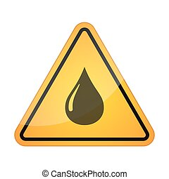 Danger signal icon with a fuel drop