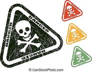Danger skull stamp
