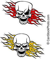 Danger skulls tattoo