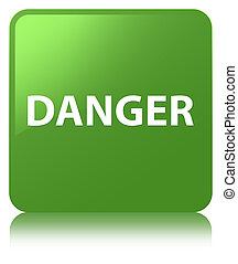 Danger soft green square button