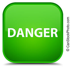 Danger special green square button