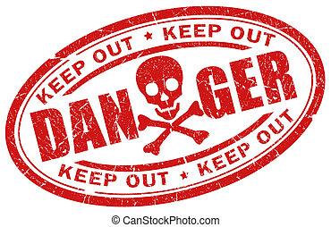 Danger stamp illustration