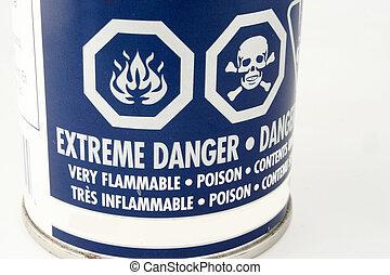 danger symbols - caution symbols on a can