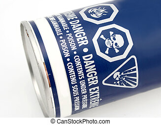 caution symbols on a can