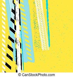 Danger Tape Background - Vector grunge automotive background...