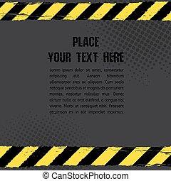 Danger Tape Background - Vector illustration of danger line ...