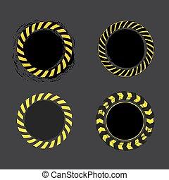 Danger Tape Banner - Danger tape yellow and black circle ...