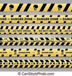 Danger tape set