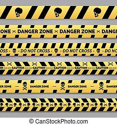 Danger tape set