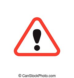 Danger traffic sign flat icon vector for graphic design, logo, web site, social media, mobile app, ui illustration
