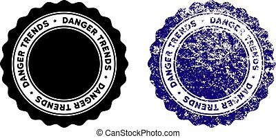 Danger Trends Stamp with Dirty Style