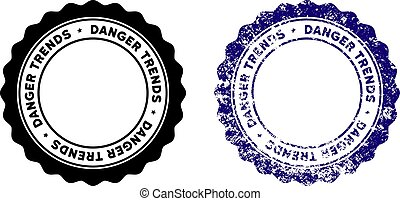 Danger Trends Stamp with Dust Style