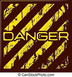 Danger warning grunge background
