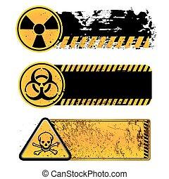 danger warning-nuclear, biohazard, toxic substance