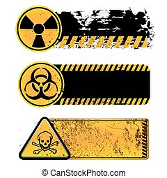 danger warning-nuclear,biohazard,toxic substance