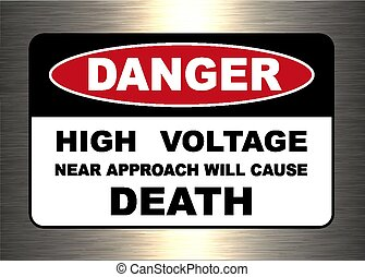 Danger, warning sign