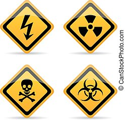 Danger warning vector sign