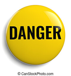 Danger Yellow Round Icon Symbol