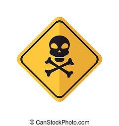 danger yellow sign