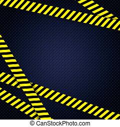 Danger yellow tape grunge background