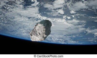 dangereux, planète, astéroïde, la terre, approchant