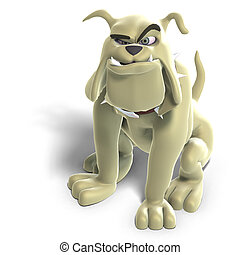 dangerous and funny toon dog