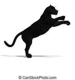 Big Cat Black Jaguar - Dangerous Big Cat Black Jaguar With ...