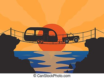 Dangerous Bridge Crossing
