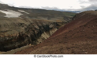 Dangerous Canyon near Mutnovsky volcano in Kamchatka. -...