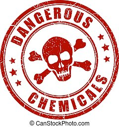 Dangerous chemicals warning stamp