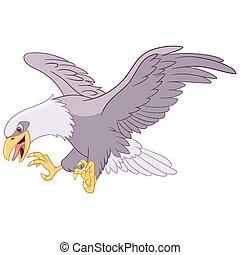 dangerous eagle - dangerous flying eagle is hunting