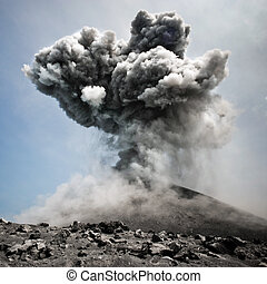 Dangerous explosion - Volcanic eruption in all its dangerous...