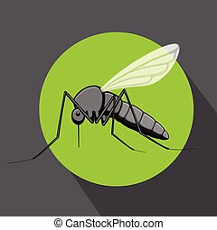 Dangerous Mosquito Insect Vector Illustration