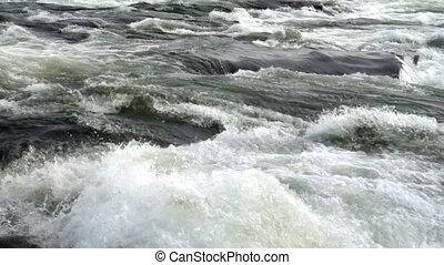 Dangerous river rapids for rafting in Scandinavia