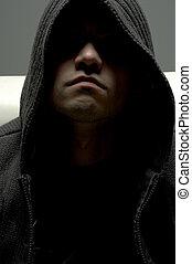 dangerous - dark portrait of dangerous man