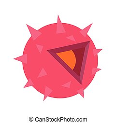 Dangerous virus isometric 3d icon